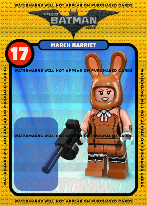 Lego Batman Movie March Harriet Custom Card Back - No Minifigure