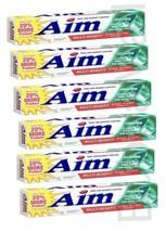 6 Packs Aim Multi-Benefit Whitening Gel Toothpaste, Fresh Mint, 5.5 oz - $19.75