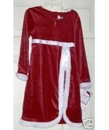 NWT YOUNGLAND RED VELVET FUR TRIM DRESS NECKLAC... - $26.82