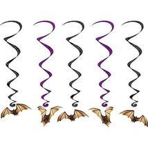 "Club Pack of 30 Halloween Bat Whirls Hanging Party Decorations 40"" - $855,63 MXN"