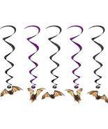 "Club Pack of 30 Halloween Bat Whirls Hanging Party Decorations 40"" - $908,87 MXN"