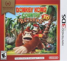 Donkey Kong Country Returns 3D Nintendo 3DS Video Game - $29.99
