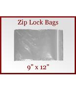 200 Zip Lock Recloseable Poly Seal Bags 9 x 12 ... - $26.48