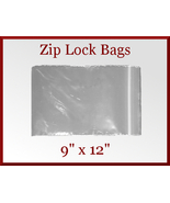 94 Zip Lock Recloseable Poly Seal Bags 9 x 12 USDA FDA Approved - $17.98
