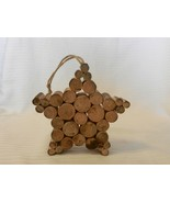 Handmade Wooden Folk Art Hanging Star Made from Tree Branches - $18.56