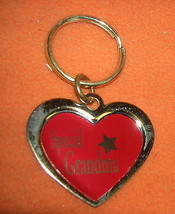 Novelty Inc Special Grandma Heart Keychain Red With Gold Border UPC:7105... - $5.69