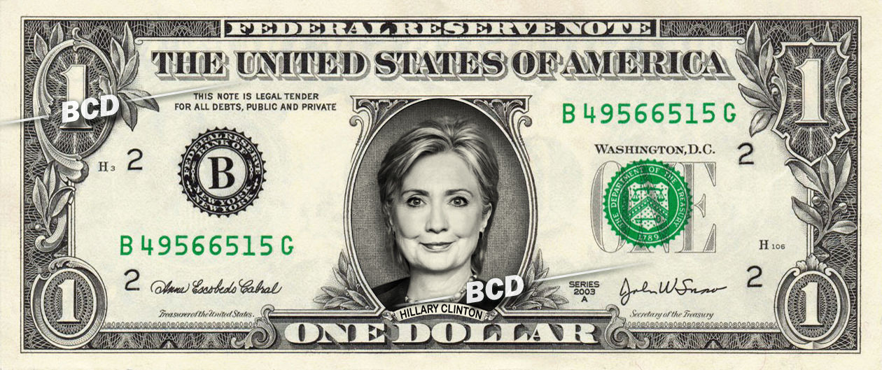 Primary image for HILLARY CLINTON on REAL Dollar Bill Cash Money Memorabilia Collectible Celebrity