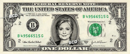 HILLARY CLINTON on REAL Dollar Bill Cash Money Memorabilia Collectible C... - $4.50