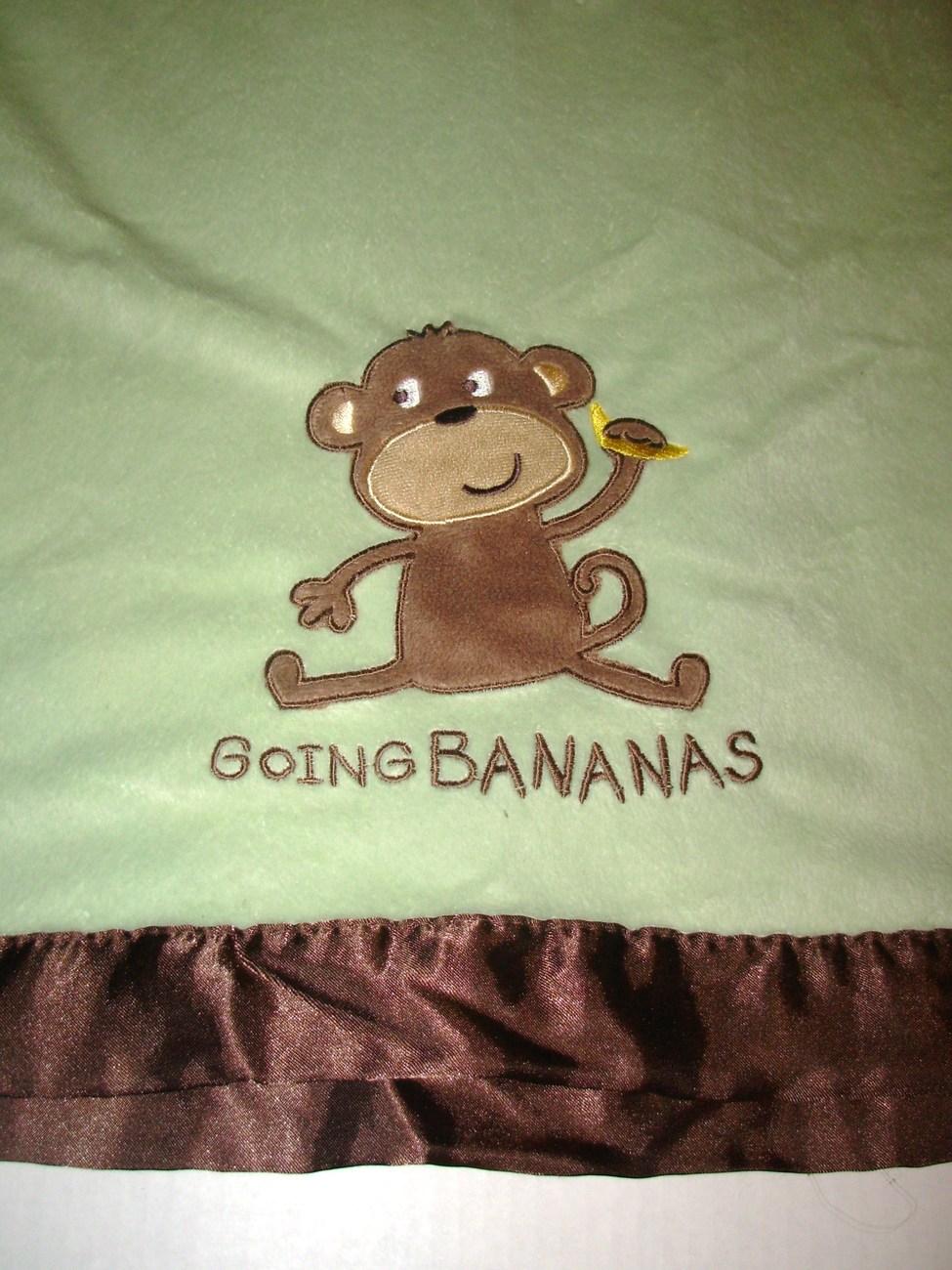 Carter S Going Bananas Monkey Baby Blanket Green Brown