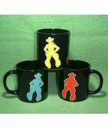 3 Western Rodeo Cowboy Coffee Mugs Vintage Department 56 Ret - $24.00