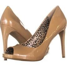 Jessica Simpson Saras Open-Toe Pumps 657, Nude Patent, 10 US - $24.95