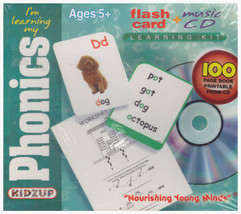 Kidzup I'm Learning My Phonics Flash Card Music CD Learning Kit NEW - $40.96
