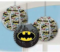 Batman Hanging Party Paper Lanterns Party Decoration Mavel Heroes Logo 3PCS - $14.80