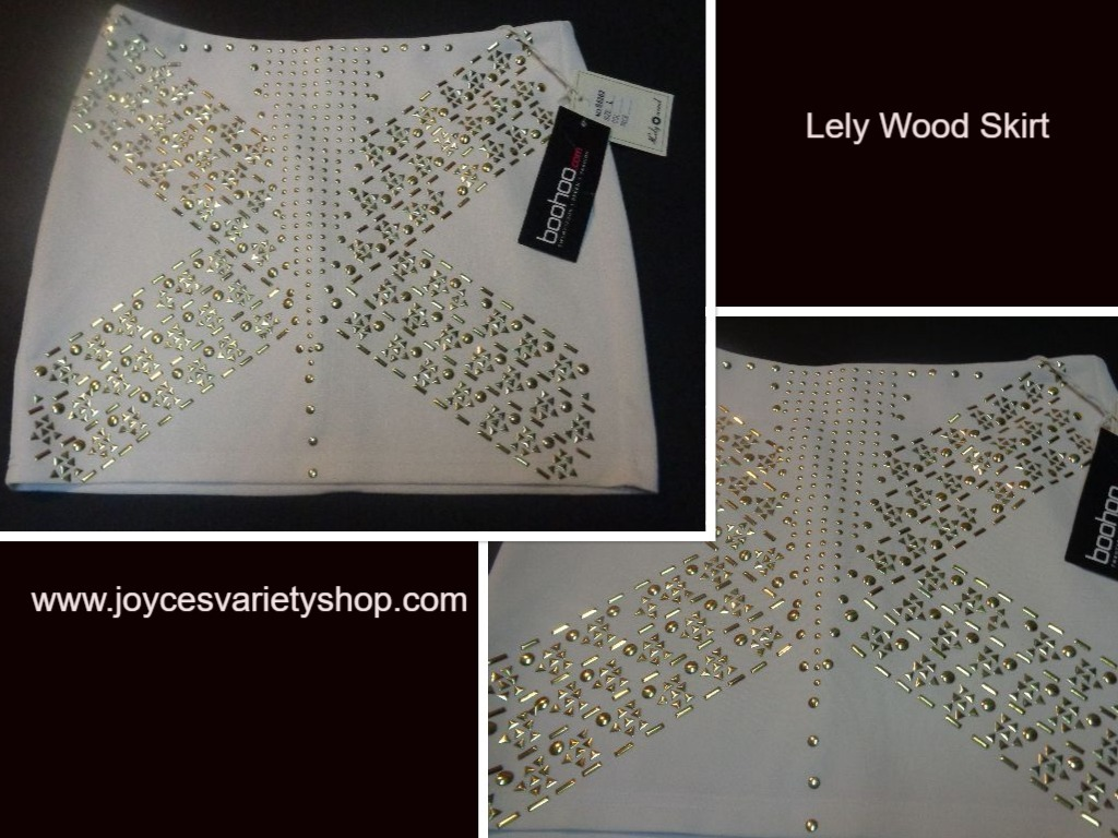 Lely wood white skirt with gold accents web collage