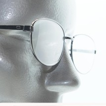 Simple No Nonsense Style Reading Glasses Shiny Gray Metal Frame +2.50 Lens - $18.00
