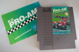 NES Nintendo RC PRO-AM Video Game w/ Manual, Sleeve (1988) - Works - $19.50