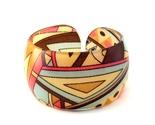 Bracelet bangle lucite geometric design triangular 1 thumb155 crop