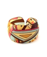 Bangle Bracelet Lucite Geometric Design Triangular Multi Color Adjustabl... - $9.99