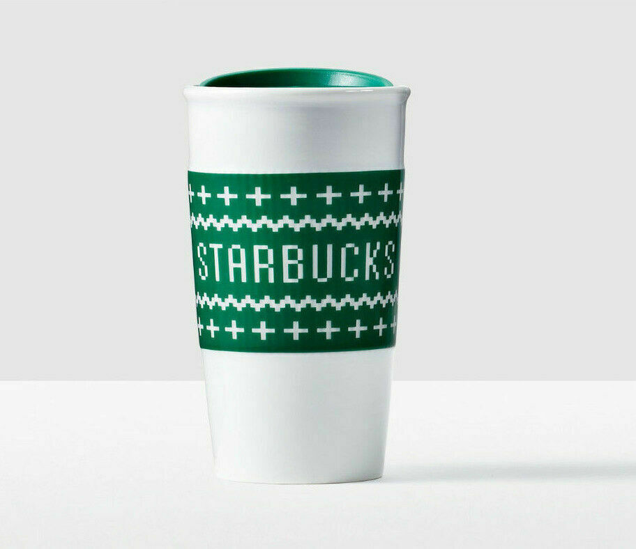 Primary image for Starbucks Ugly Christmas Sweater Double Wall Traveler 10 oz New With Gift Box