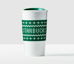 Starbucks Ugly Christmas Sweater Double Wall Traveler 10 oz New With Gift Box - $43.69