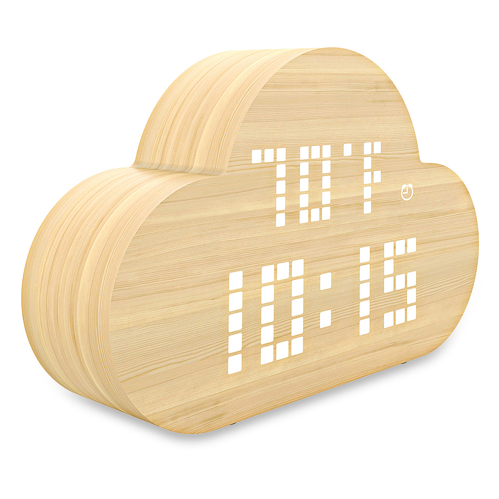 Loskii HC-189 Silent Electronic Clock LED Intelligent Alarm Clock Voice Control