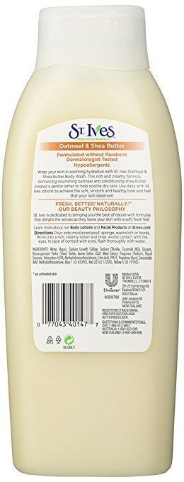 St. Ives Nourish and Soothe Body Wash - Oatmeal & Shea Butter - 24 oz