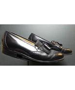 Men's Johnston & Murphy Optima Classic Black Leather Tassel Loafer Sz. 1... - $36.75