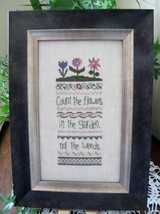 Count The Flowers cross stitch chart From The Heart  - $7.20