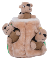 Large Hide-A-Squirrel and Puzzle Plush Squeaking Dog Toy w/ 3 Squirrels - $18.99