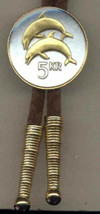 "J & J Coin Jewelry Bolo Tie /24KGold on Silver Iceland 5 Kronur ""Two Dol... - $65.95"