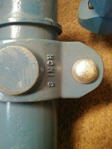 Two 3 inch  pipe with couplers image 2