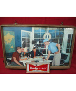 Early Working 1950's Original Vintage Budweiser Lighted Bar Sign  - $346.49