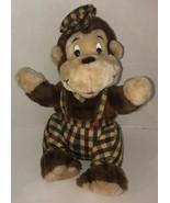 """Vintage DAPPER MONKEY Newsboy Hat 17"""" Stuffed Plush Brooklyn Doll Toy No... - $51.65"""
