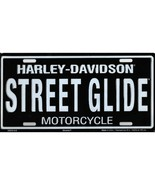 harley-davidson street glide motorcycle license plate made in usa - $36.09