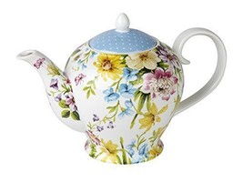 Traditional Teapot Style Vintage Designers Porcelain Shabby Chic Floral ... - $49.02
