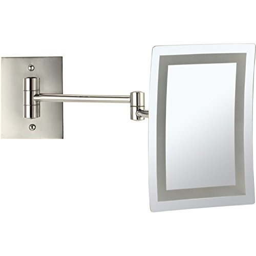 Primary image for Nameeks AR7702-SNI-3x Glimmer Wall Mounted Square LED 3x Magnification Makeup Mi