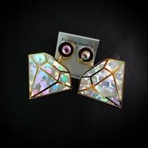 Holographic Acrylic Earrings Hologram Charming Woman Fashion Hologram El... - $10.97