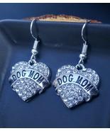 Dog Mom Crystal Heart Earrings - $18.00