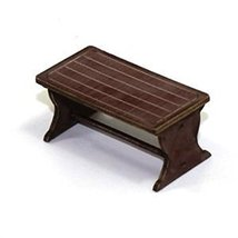 4Ground 28mm Furniture: Medium Wood Farm Table