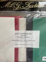 MCG Textiles 14 Count Aida Cotton Polyester Metallic Cross Stitch Fabric... - $14.52