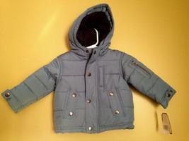 NWT OshKosh B'Gosh Baby Boy Unisex Blue Winter Coat Hooded Jacket 12 M $78 - $48.00