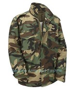 M65 US FIELD JACKET QUILT LINER VINTAGE MILITARY ARMY COMBAT COAT WOODLA... - $49.25+