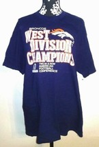 Broncos Unisex XL 2012 West Division Champions Football Conference T Shirt - $5.55