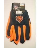 NEW NFL CHICAGO BEARS 2 PAIR OF NO SLIP GRIPPER UTILITY WORK GLOVES - $14.50