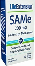 NEW Life Extension Same 200 Mg for Joints and Emotional Well-Being 30 Tablets - $20.60