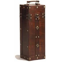 Wine Storage Box, Luxury Rustic Wooden Vintage Treasure Chest Single Win... - $50.98