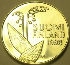 Finlandia 10 Penni, 1998 Gem UNC ~ Flor Cápsulas & Panales - $3.00