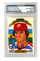 Steve Carlton Signed Phillies 1983 Donruss Trading Card #16 - (PSA Encap... - $80.00