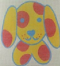Dog Needlepoint Canvas Penelope Style Puppy Polka Dot Pillow Cute 2 AVAI... - $2.95