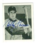 Bobby Thomson autographed Baseball Card (New York Giants) 2001 Topps Her... - $22.00